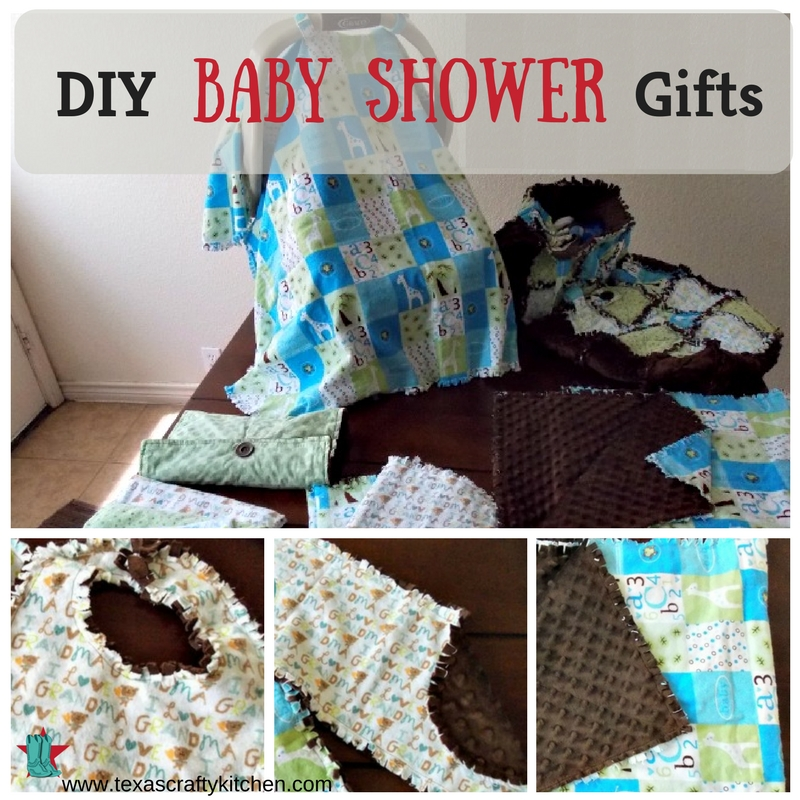 If you can sew a straight line, you can makes these easy DIY Baby Shower