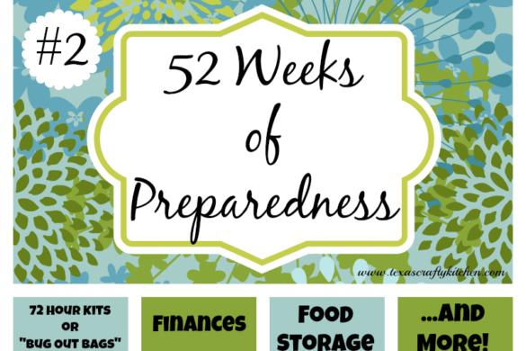 52 Weeks of Preparedness - Week #2