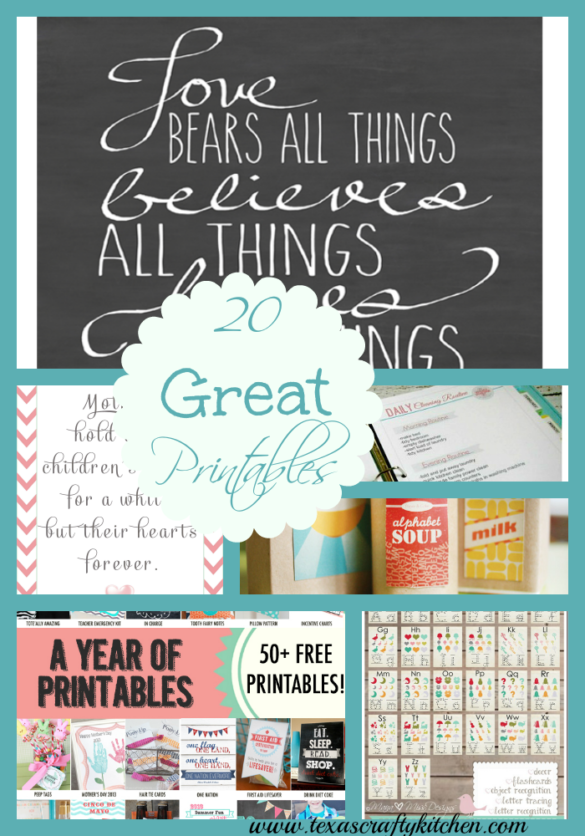 20 Great Printables