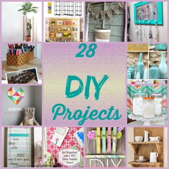 28 DIY Projects. We love DIY Projects! A great collection of ideas for your home!
