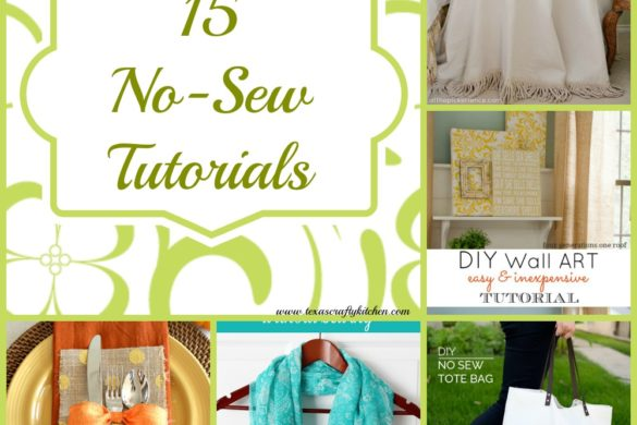 15 Amazing No-Sew Tutorials