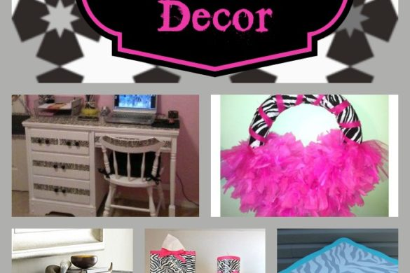 9 Zebra Print Decor