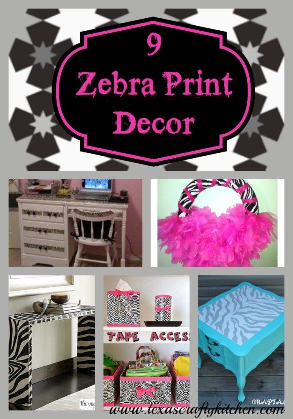 9 Zebra Print Decor