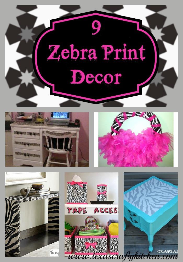 9 Zebra Print Diy Decor Ideas Texas Crafty Kitchen