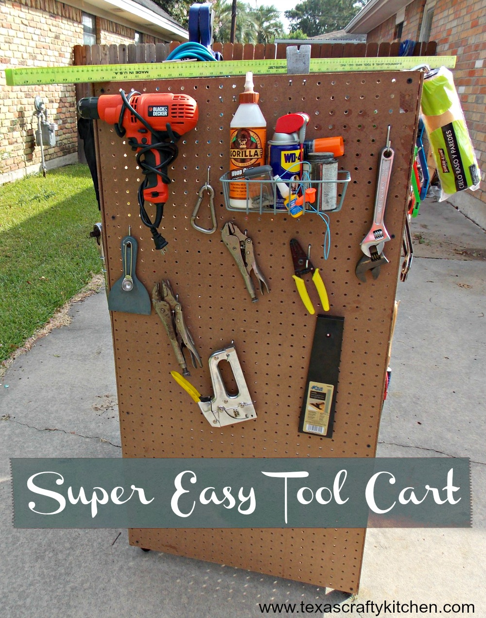 Super Easy DIY Tool Cart - Texas Crafty Kitchen