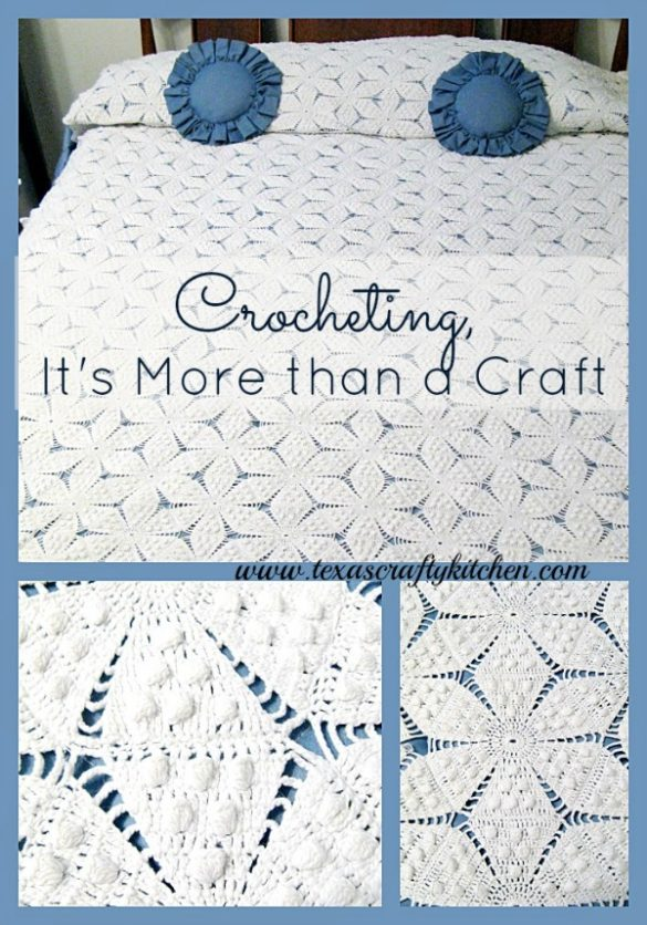 crocheting, it's more than a craft