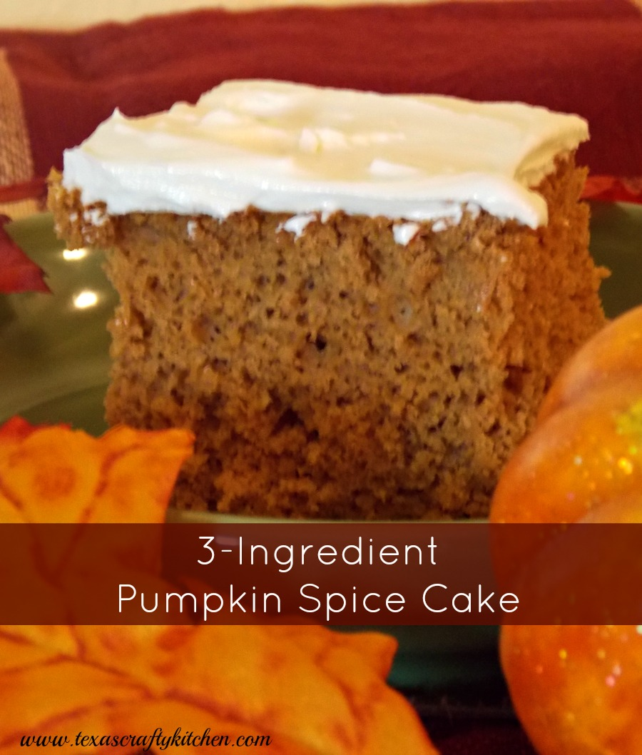 3-Ingredient Pumpkin Spice Cake