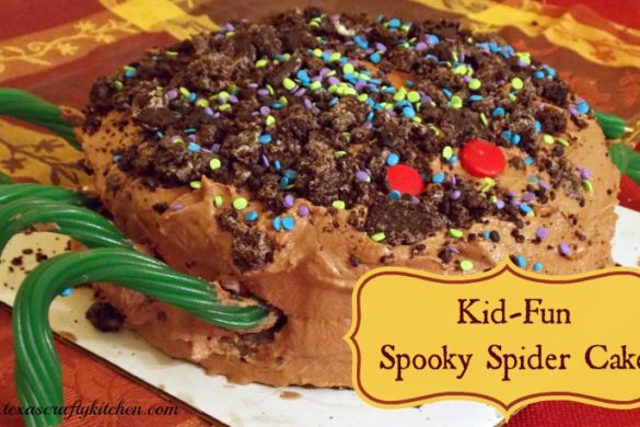 kid-fun spooky spider cake