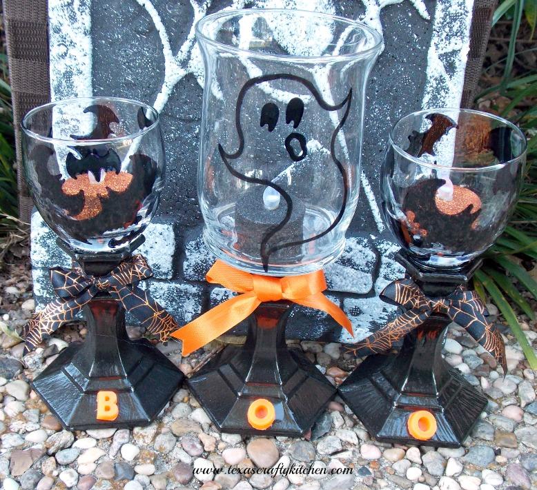 spooky votive holders