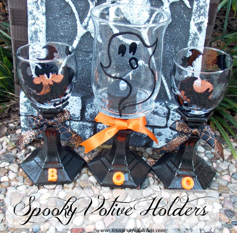 spooky votive holders