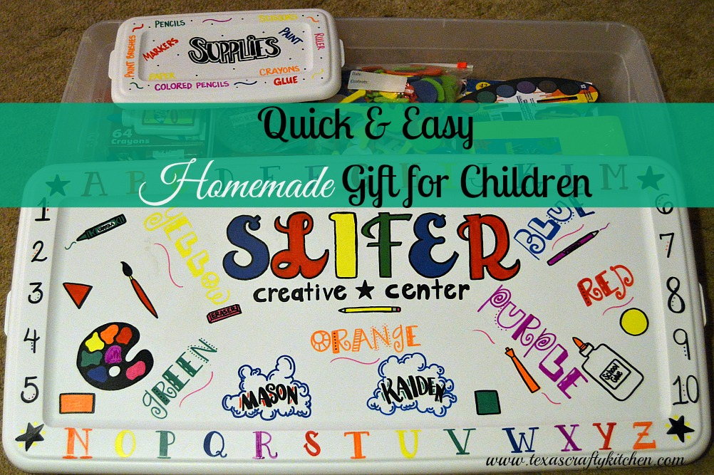 Quick and Easy Homemade Creative Center Gift