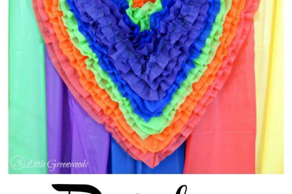 Rainbow Heart Party Decor