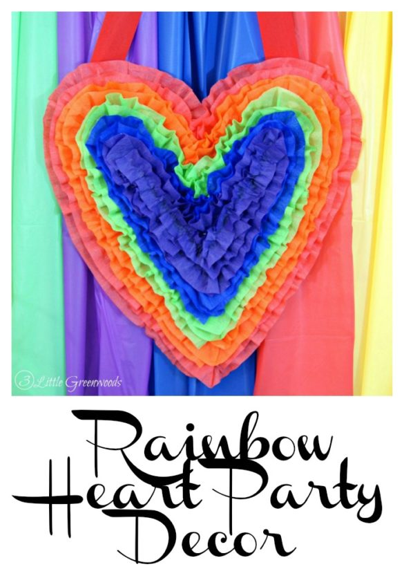 Rainbow Heart Party Decor