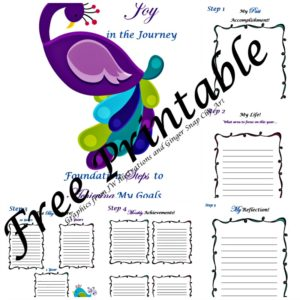 5 foundation steps to achieving my goals printable
