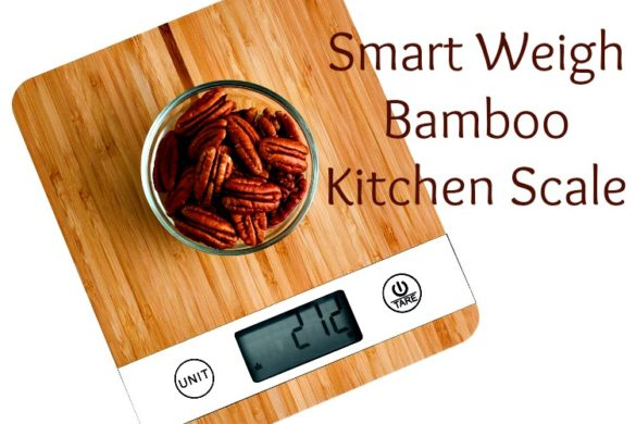 smart weigh bamboo kitchen scale