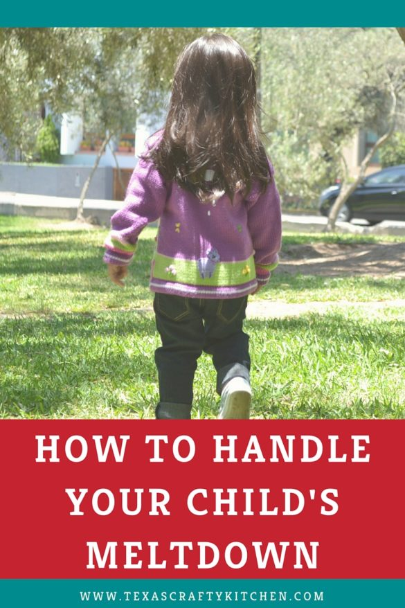 How to Handle Your Child's Meltdown. Parents sometimes struggle when a child has a meltdown. You are not alone!