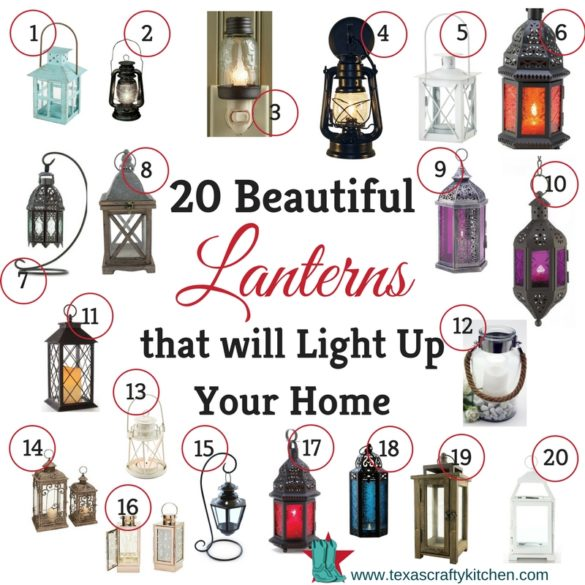 A collection of beautiful lanterns to add to your home decor from Amazon
