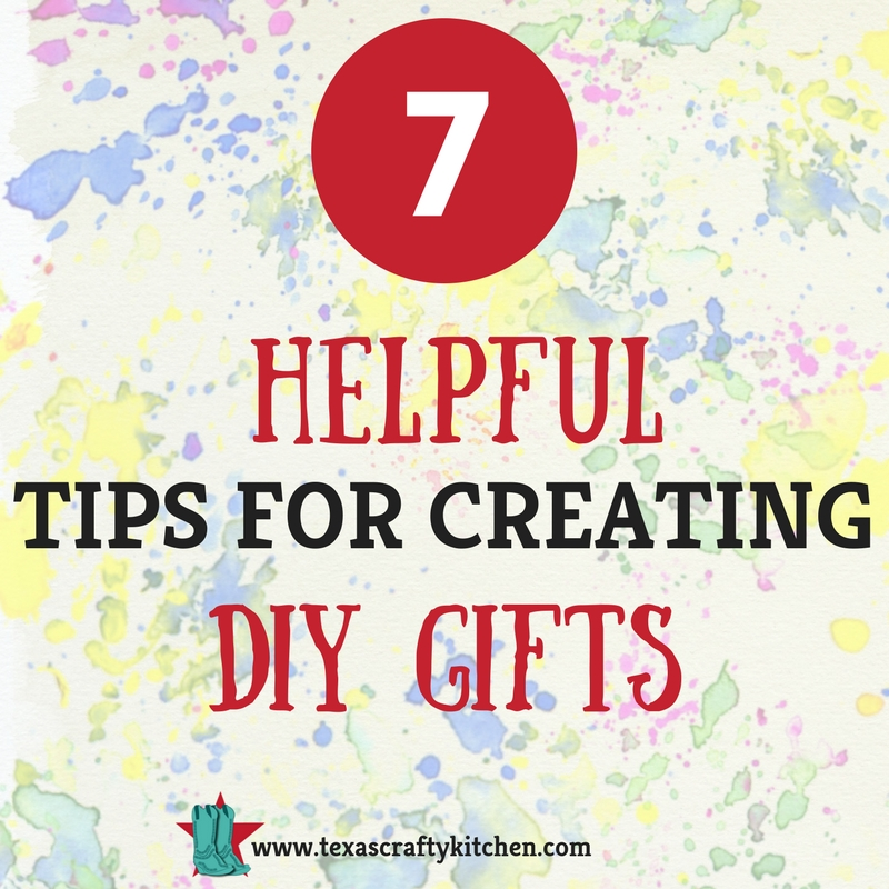 Some great tips to think about before you start your diy gifts.