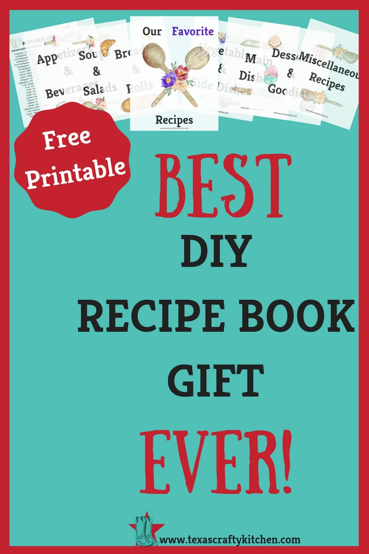 DIY Recipe Book Gift: A simple solution to organizing recipes. A great DIY gift for anyone and any occasion. Give as a wedding gift, Mother's Day gift, bridal shower gift or Christmas gift. Something that they will love and use for a long time.