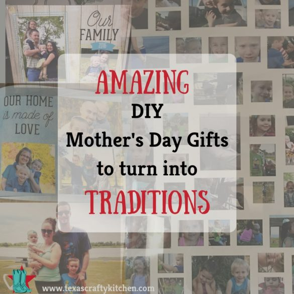 Trying to find the perfect DIY Mother's Day gifts can be hard. Why not make a gift a tradition!