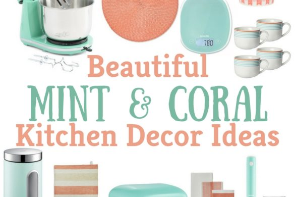 "Beautiful Mint and Coral Kitchen Decor Ideas. The kitchen is our favorite place as a family. We spend lots of time together in this special room of our home. We have created some great food, lots of laughter, and just plain fun. It's also the reason we have ""Kitchen"" in Texas Crafty Kitchen!"