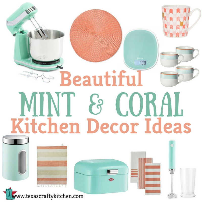 Coral Color Kitchen Decor
