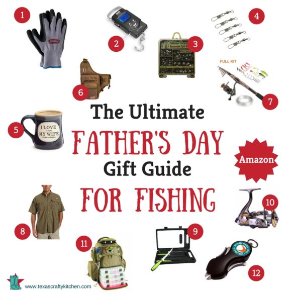 The Ultimate Father's Day Gift Guide for Fishing. All the needs and wants any fisherman would love to have. Gift Guide for Fishing are from Amazon and Etsy!