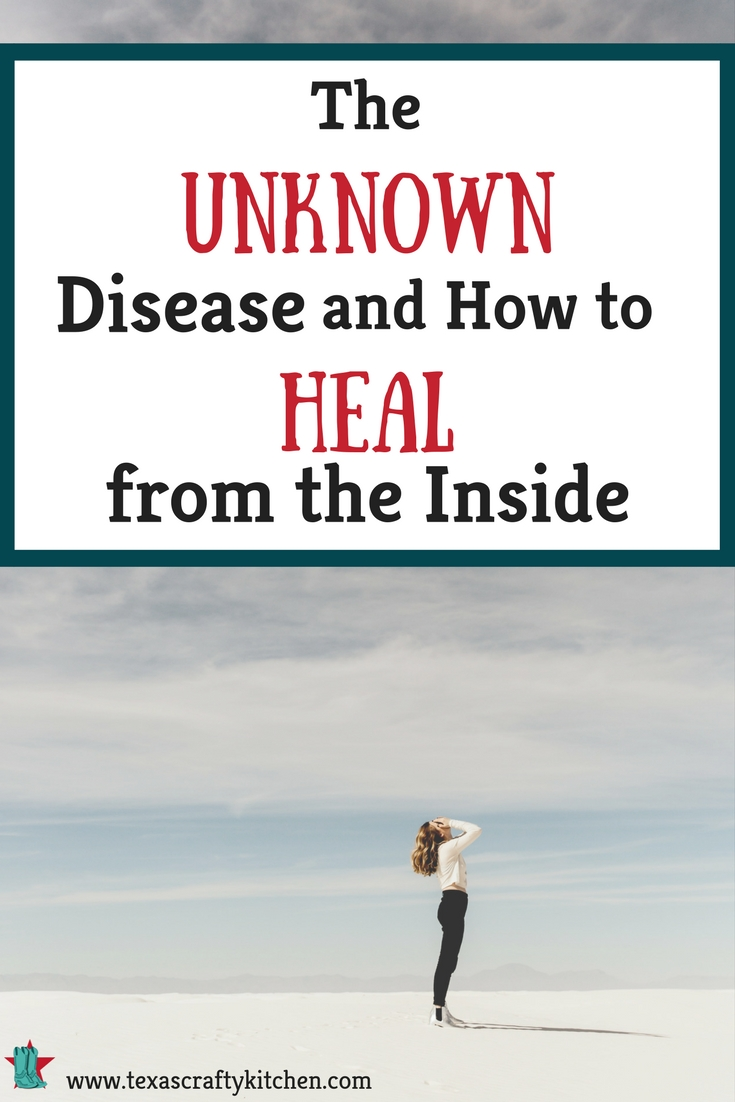 The Unknown Disease and How to Heal from the Inside. Are people so blind as to think that if it's FDA Approved we are fine to consume it? That it's not going to eventually take its toll on our bodies?