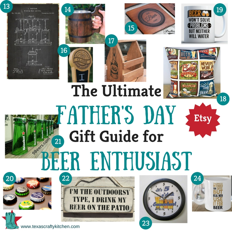 The Ultimate Father's Day Gift Guide for Beer Enthusiast. All the needs and wants any Beer Enthusiast would love to have. Gift Guide for Beer Enthusiast are from Amazon and Etsy!
