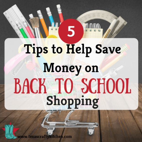 5 Tips to Help Save Money on Back to School Shopping. Back to school time can be a financially challenging time! Here are some tips on Frugal shopping for Back to School.