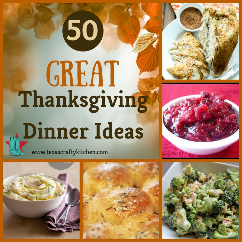 With Thanksgiving right around the corner, Thanksgiving Dinner is on the mind. 50 Great Thanksgiving Dinner Ideas is a great place to start.