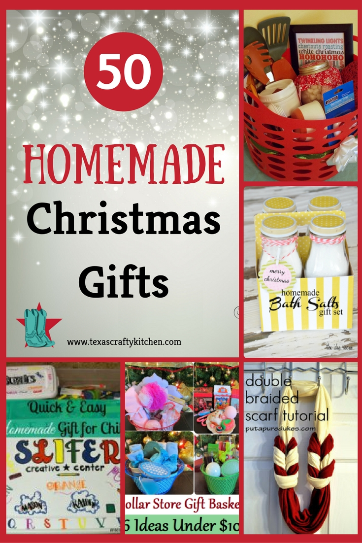 50 Homemade Christmas Gifts. Homemade gifts are something I love to give and receive! We are always on the look-out for some great gift ideas!