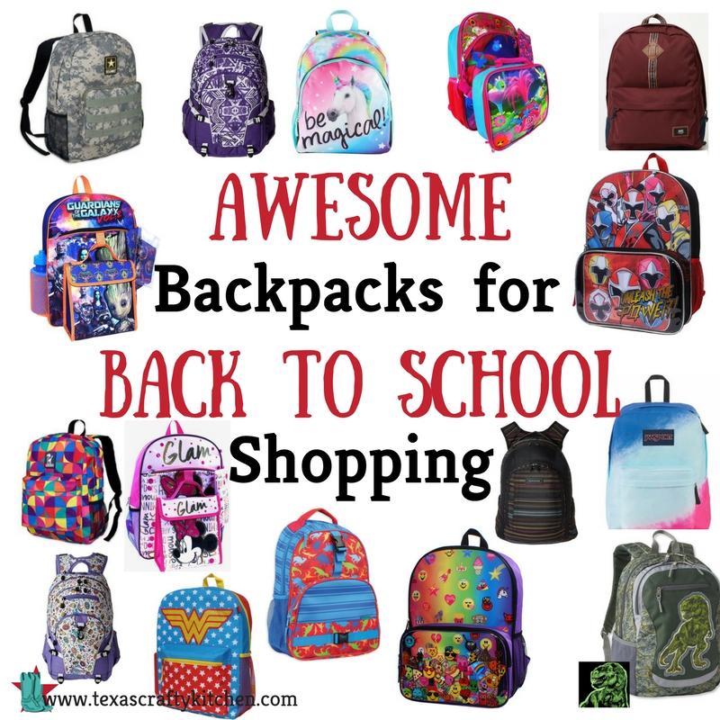 Awesome Backpacks for Back to School Shopping - Texas Crafty Kitchen