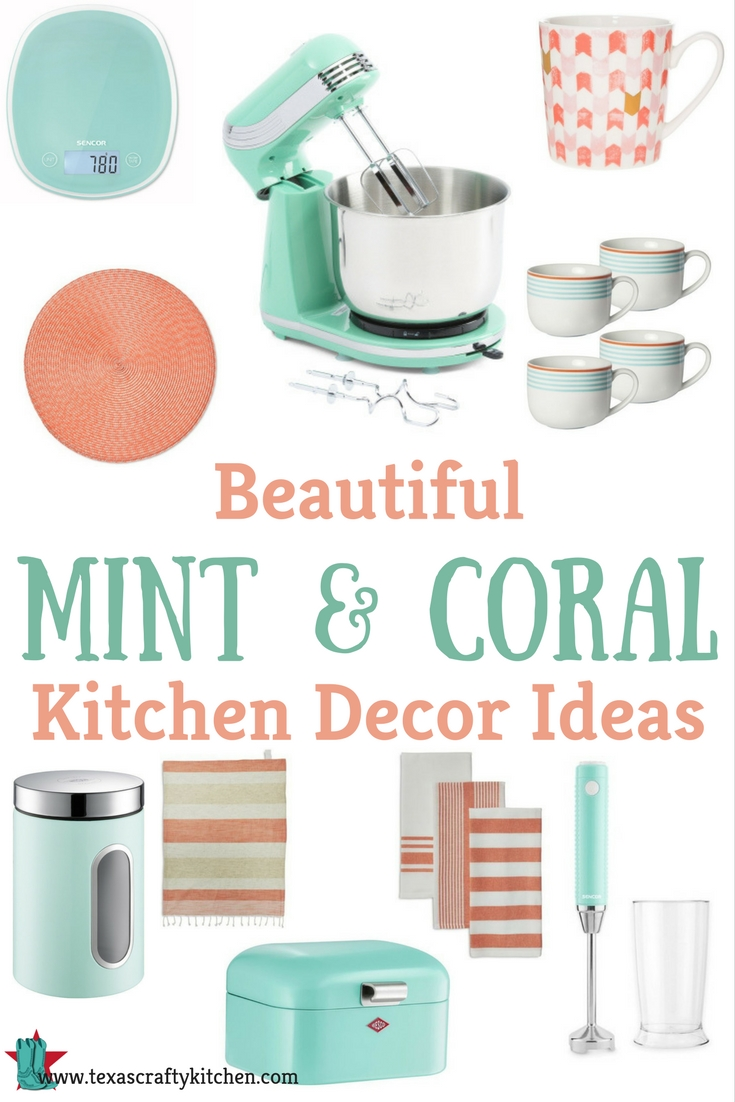 coral kitchen accessories beautiful mint and coral kitchen decor ideas 2589